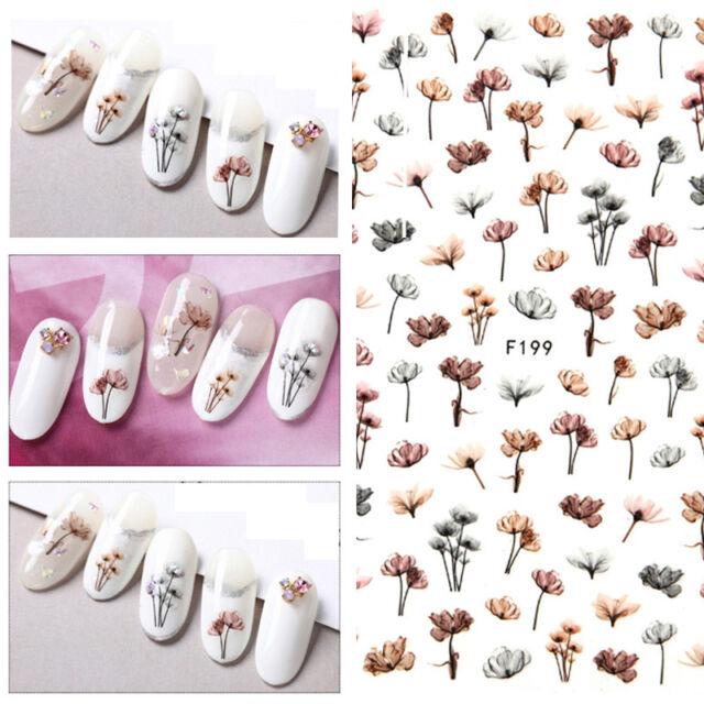 Dandeli Flower 3d Nail Stickers Nail Art Adhesive Transfer Sticker