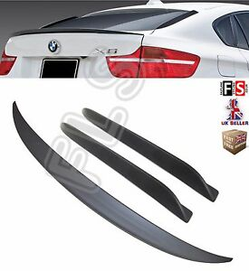 Details About Bmw X6 E71 M Performance Rear Boot Trunk Spoiler Fin Spoiler 08 14 Matt Black