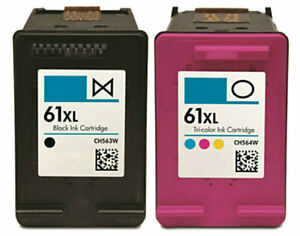 2pk-For-HP61-XL-Blk-Clr-Ink-For-Deskjet-3056A-3510-3516-3511-3512-ENVY-4500-5530