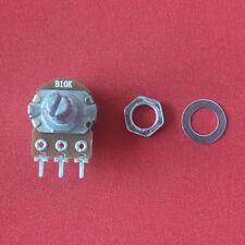 10Stk 10K ohm B10K 3-pin Knurled Shaft Linear Taper Drehpotentiometer