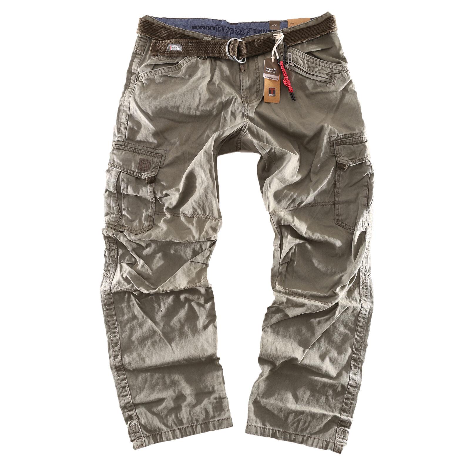 Timezone Herren Worker Jeans Cargo Cargo Cargo Hose Benito TZ 4019 ivy olive NEW 2019 c88c8d