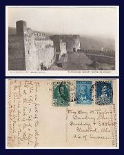 GREECE SALONIQUE FORTERESSE DE SEPT TOURS REAL PHOTO POSTED 1930 TO CLEVELAND