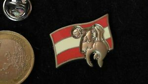 Fusball-Pin-Badge-Frankreich-98-Arthus-Bertrand-Osterreich-OFB-2D-Flagge