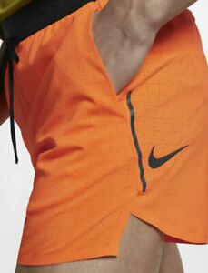 Details about MENS NIKE TECH PACK 5 Inch RUNNING SHORTS SIZE XL (AQ6470  803) ORANGE / GREY
