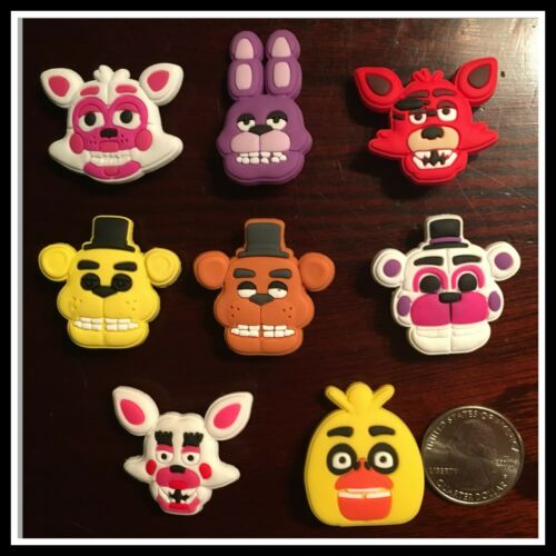 8 Shoe Charms for Crocs Video Game FIVE NIGHTS AT FREDDY/'S FOXY BONNIE TOY CHICA