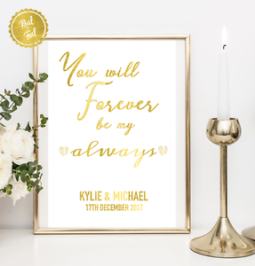 You Will Forever Be My Always Engagement Party Love Quotes
