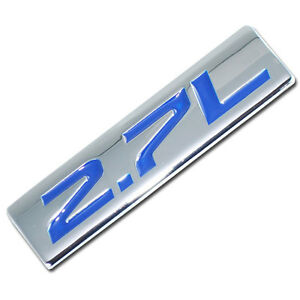 CHROME/BLUE METAL 2.7L ENGINE RACE MOTOR SWAP EMBLEM BADGE FOR TRUNK HOOD DOOR