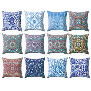 Am-CO-45x45cm-Retro-Mexico-Style-Colorful-Flower-Throw-Pillowcase-Cushion-Cove