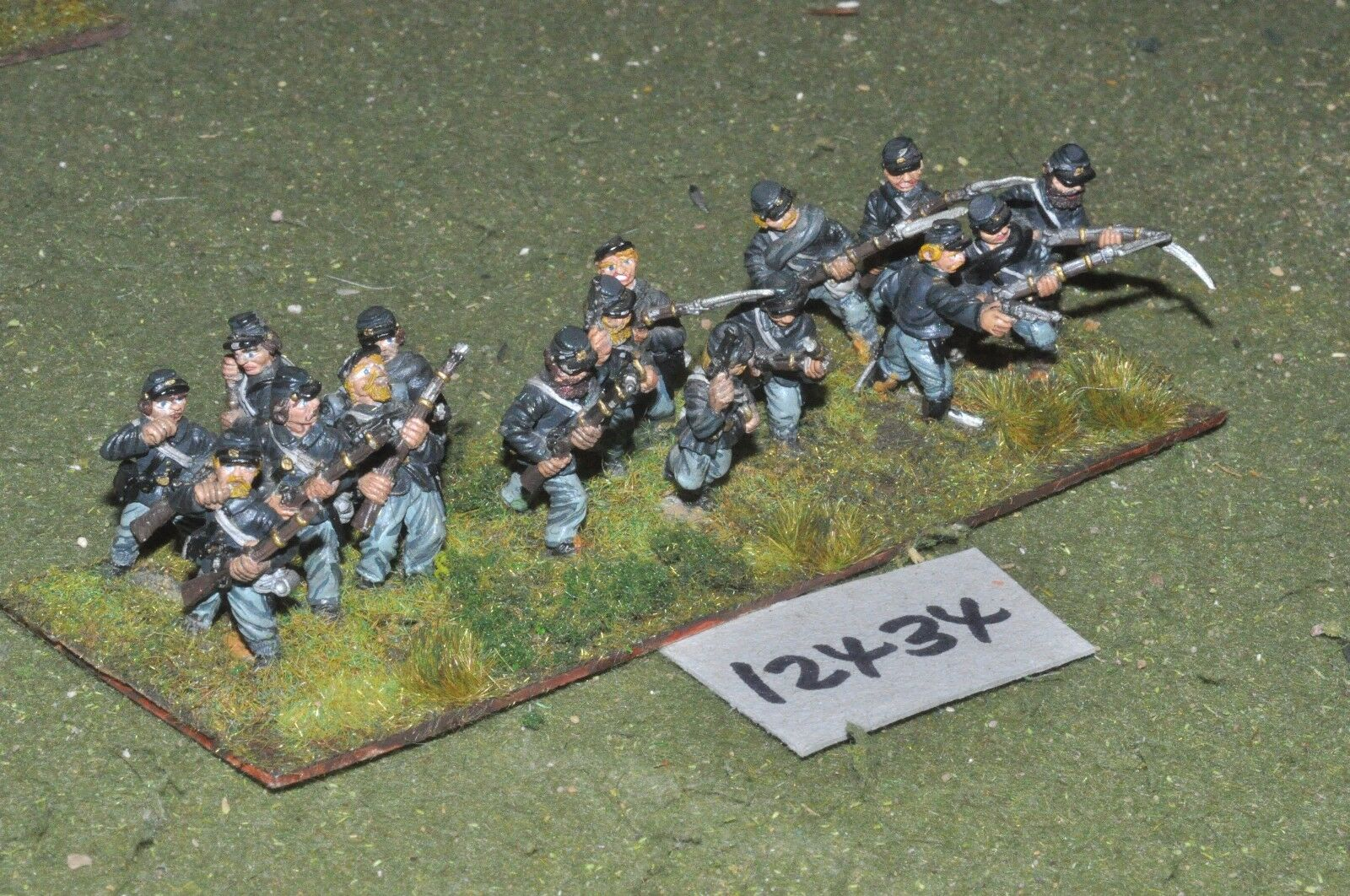 25mm ACW   union - american civil war infantry 16 figures - inf (12434)
