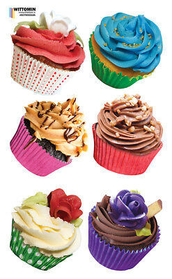 Aufkleber Sticker Wandaufkleber Wandsticker Dekor Muffins Cupcakes Dessert Küche