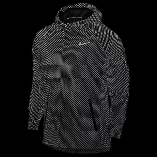 95f3fcacfa99 Nike City Flash Mens Running Jacket 3m Reflective Black 745525 010 Size  Small