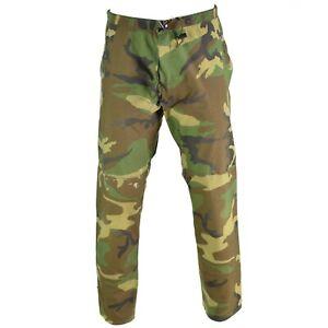 Genuine-US-Military-GI-Gore-Tex-Pants-Woodland-Camo-waterproof-army-trousers
