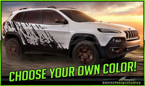 Universal 2014 2015 2016 2017 Jeep Cherokee Mud Splash Graphic Vinyl Decals