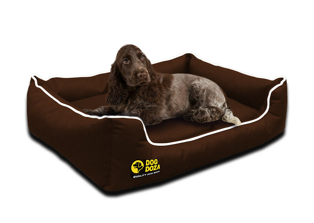 Dog Doza Waterproof Dog Dreamer Settee Orthopaedic Memory Foam Sofa Bed UK Brown