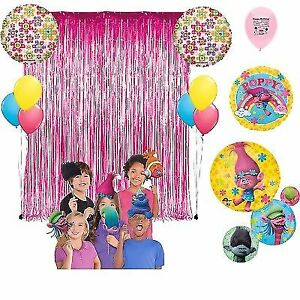 Trolls Birthday Party Photo Booth Props Balloons Decoration Kit For