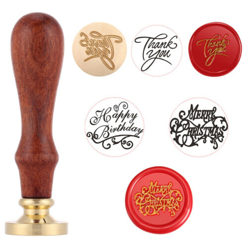 Thank You Wax Seal Stamps Post Birthday Christmas Envelope Sealing Wax Stamp