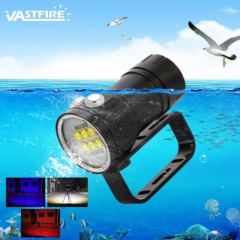 Fotografie 14LED 50400LM Dive Video Lampe Rot Blau Tauche Tauche Tauche Tauchlampe Licht Lamp 06bcb7