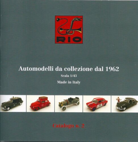 catalogue RIO 2011 voiture de 1962 1//43 italie #2  22 Pgs