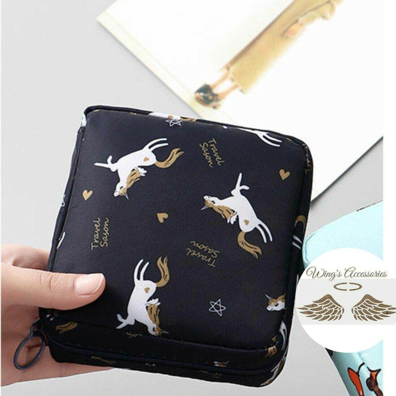 (New) Adorable Korean style unicorn light waterproof multi use pouch/organizer