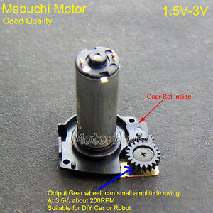 DC 3V 80RPM Micro Worm Gear Motor Gearbox Reduction Gear Wheel DIY Toy Robot Car