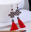 Trendy strass Chinois Noeud Oreille Clous Tassel Dangle Crochet Boucle d/'oreille Bijoux