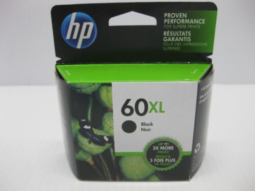 NICE BOX ** SHIPS OVERBOXED May 2020 Date HP 60XL Black Ink CC641WN Genuine