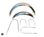 thumbnail 1 - BSA B25 B44 Star Fire Front & Rear Chromed Mudguard Fender Set &Stay Kit|Fit For