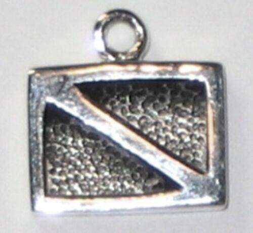 Scuba Sterling Silver Charm Dive Flag 22