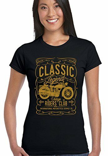 Légende classique Riders club femme t-shirt motard moto indian motorcycle bike