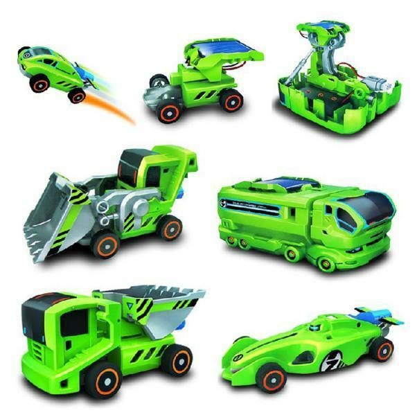 7 In 1 Rechargeable DIY Solar Robot  Power Car Kit Educational Toy Gift For Kids