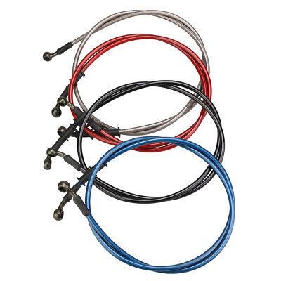 Suuonee Brake Line Pipe 50cm 500mm-Red 120cm Brake Hose Motorcycle Braided Steel Brake Clutch Oil Hose Line Pipe Colorful