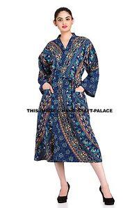 Image is loading Indian-Cotton-Mandala-Kimono-Robe-Evening-Regular-Gown- c9d737d5e