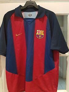 separation shoes 228d6 45108 Details about FC BARCELONA Nike Home Shirt 2003/04 M 39-41