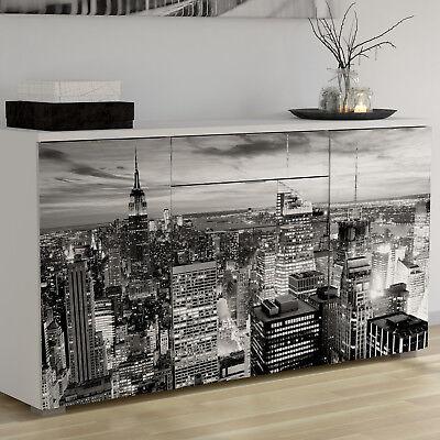Aparador bufe de salon comedor color blanco moderno diseño Nueva York 86x160cm