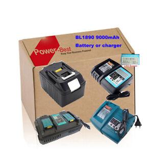 18V-9-0Ah-Akku-fuer-Makita-BL1890-BL1850-BL1860-LXT-oder-Ladegeraet-DC18RD-DC18RC