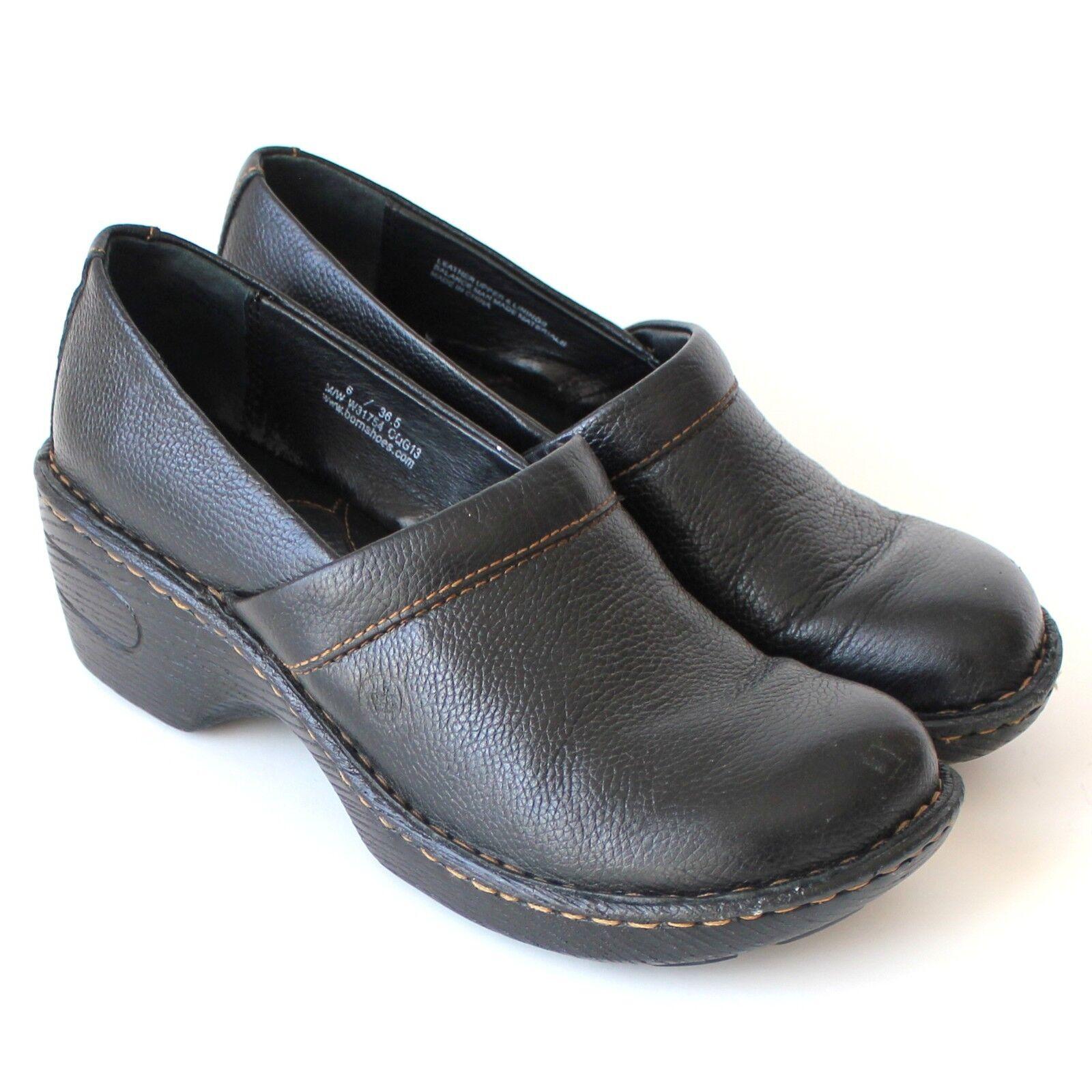 Nacido zapatos talla 6 36.5 36.5 36.5 Negro Cuero Para Mujeres Zuecos Boc con M W31754 apenas usados  increíbles descuentos