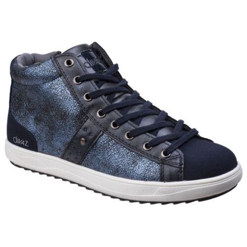 Mode Steffy Chaussures Baskets Bottines Pour Métallique Divaz Femmes Xxdzq4