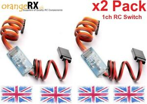 RC-Receiver-Operated-Electronic-On-Off-Switch-Remote-Control-Switch-LEDs-X2-PACK