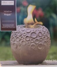Pele 9 In Sepia Pearl Ceramic Fire Pot
