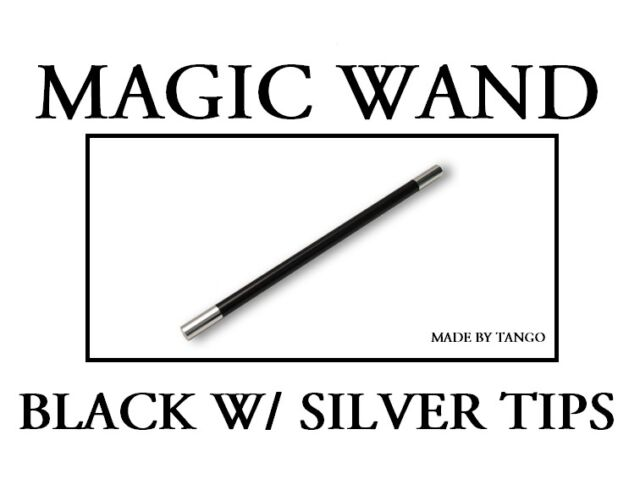 MAGIC WAND BLACK WITH SILVER TIPS - NEW
