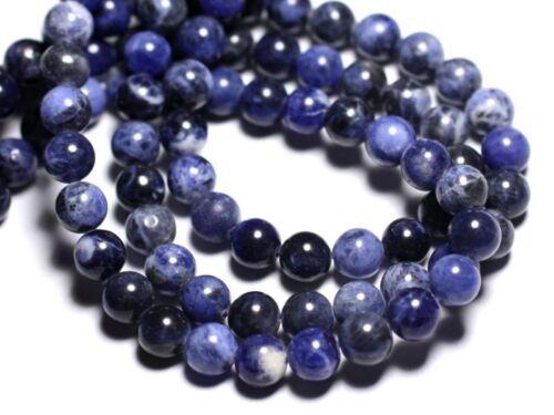 Sodalite Boules 8mm Perles de Pierre Fil 39cm 46pc env