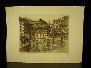 Der-Klein-Frankreich-Strasbourg-1947-Proof-Test-Unterzeichnet-Marcel-Basan