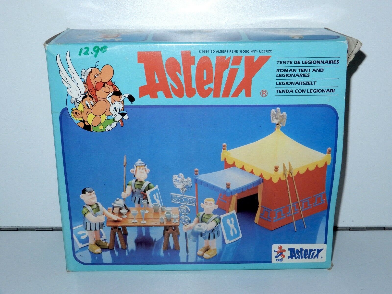 ASTERIX PLAY ACTION FIGURES 6235 LEGIONAIRES TENT EMPTY BOX ONLY 1980s CEJI HTF