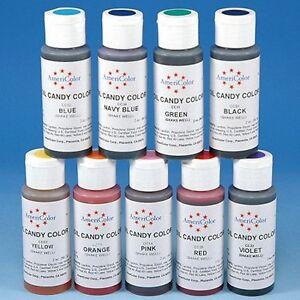 Americolor Oil Candy Color 2 oz Oil-Based Chocolate White Dark ...