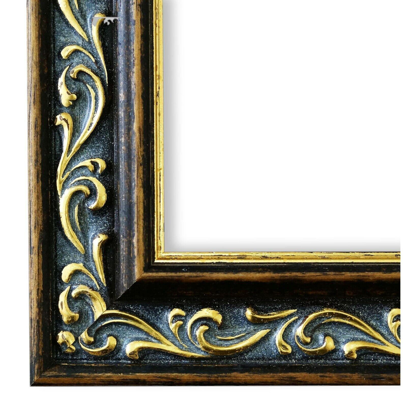 Bilderrahmen Verona Braun Gold - 80x80 80x90 80x100 80x120 90x90 90x100 100x100