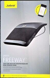 Jabra-Freeway-Bluetooth-Kfz-Freisprecheinrichtung-Deutsche-Sprachsteuerung-NEU