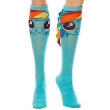 Official Colourful Funky Rainbow Dash Knee High Socks with Hair - My Little Pony