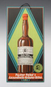 ALTES-Pappschild-Gesundheits-Kraeuter-Bitter-um-1920
