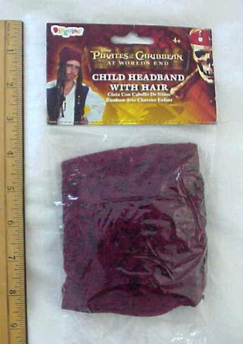 Disney Pirates of Caribbean Child Jack Sparrow Pirate Halloween Headband//Hair
