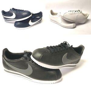 Nike-Men-039-s-Shoes-Classsic-Cortez-Leather-Retro-Casual-Athletic-Navy-White-Black9